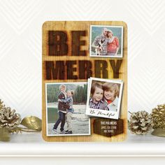 'Woodburn Wish' #Holiday Photo Cards Fine Moments for Tiny Prints in Umber Brown