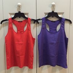 Soprano - Two Sheer Tank Top! Soprano - Purple and Orange Sheer Tank Top. Size Tag Is No Longer Available. But The Top Fit True To Size XS! In Great Condition! Happy Poshing. Soprano Tops Tank Tops