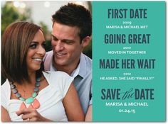 Timeless Love Save the Date from Wedding Paper Divas