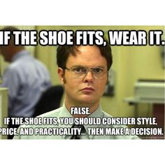 Listen to Dwight and remember our return policy: 3 days for money back 7 days for store credit all sale shoes are final sales. Happy shopping! #shoes #shopping #sales #returns #simonsshoes #instashoes #meme