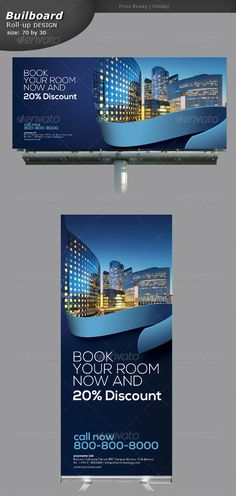 Hotling Billboard and Rollup Banners — Photoshop PSD #services billboard #rent billboard • Available here → https://graphicriver.net/item/hotling-billboard-and-rollup-banners/5329067?ref=pxcr