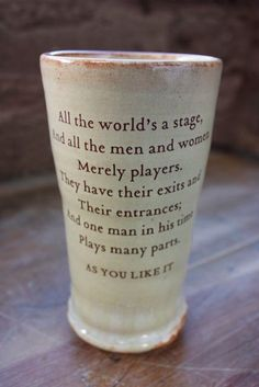 Shakespeare mug - All the world's a stage....