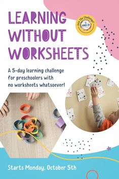 Challenge starts October 5th >> LearningWithoutWorksheets.com #LearningWithoutWorksheets