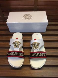 Beautiful Versace sandals Versace Mens Shoes, Versace Sandals, Versace Sneakers, Versace Shoes, New Sneakers, Versace Perfume, Black And White Pants, Jordan Shoes Girls, Gucci Store
