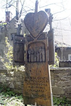 Wanda Gentil-Tippenhauer  was Polish artist .Her tombstone was made by pupils working under the direction of Anthony Rząsa in the studio Hasior in the Secondary School of the Arts. In the cemetery of Merit at the Pęksowy Brzyzek .