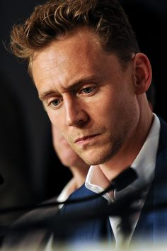 Tom Hiddleston at the Press Conference for Only Lovers Left Alive; at Cannes Film Festival byLucie Otto-Bruc