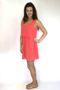Coral Dress - Blu Pepper