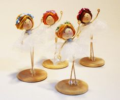 Sugar Plum Fairy Ballerina Doll Pink from The Nutcracker Doll Ballet Nutcracker Dolls Dancer by Petalbelles on Etsy $23.99 @