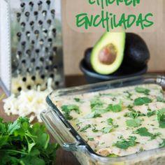 Spicy Avocado Chicken Enchiladas