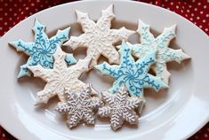 Snowflake Cookies - by Katie's Something Sweet
