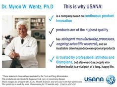 Myron Wentz is an internationally recognized Usana Vitamins, Health And Wellness, Health Fitness, Healthy Nutrition, Healthy Eating, Science, Reading, Essentials, Game