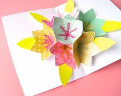 Omiyage Blogs: DIY: Pop-Up Bouquet Card