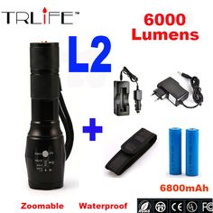 CREE XML T6 L2 Flashlight 6000lm Adjustable Zoomable led Flashlight Lamp Light LED Tactical Torch Lantern Rechargeable 18650-in Flashlights & Torches from Lights & Lighting on Aliexpress.com | Alibaba Group