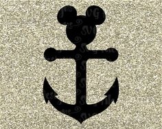 mickey ear anchor | Disney Cruise Mickey Mouse Ears & Anchor Cutting by SVGFileDesigns