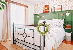 16 Ways to Turn Your Bedroom Into a Cozy Haven | Hometalk Cottage Bedroom Decor, Cottage Style Bedrooms, House Frame Bed, Wainscoting Styles, Turquoise Walls, Funky Decor, Bookshelves Built In, Bookcases, Board And Batten