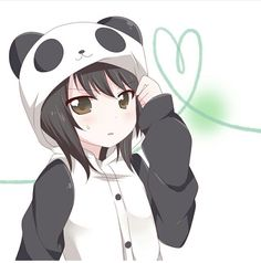 Image uploaded by SenpaiNoticeMe; Find images and videos about panda, yuru yuri and kawaii anime girls on We Heart It - the app to get lost in what you love. Anime Love, Cool Anime Girl, Girls Anime, Anime Chibi, Manga Anime, Anime Art, Panda Anime Girl, Kawaii Anime Girl, Panda Kawaii