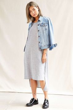 Urban Renewal Recycled High/Low Sweatshirt Dress - Urban Outfitters