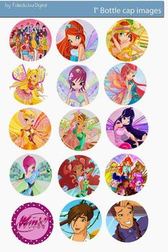 Free Bottle Cap Images: Digital bottle cap images free - Winx Club
