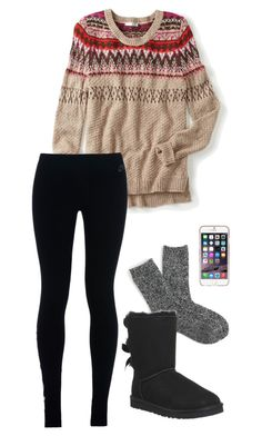 """""""They say she's in the class A Team"""" by toonceyb ❤ liked on Polyvore featuring maurices, NIKE, J.Crew, UGG Australia, Agent 18, women's clothing, women, female, woman and misses"""