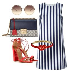 """Weekend"" by arta13 on Polyvore featuring Dolce&Gabbana, Aquazzura, Gucci, Nora Kogan and Linda Farrow"