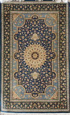 Silk Persian Qom Rug - £1995 - Sold