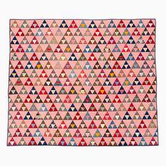 Unique Quilt – Thousand Pyramids   Mingei, Pat Nichols collection, @ 1880