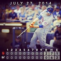 Lucas Duda clubs 2-run blast behind strong effort by Jacob deGrom as #Mets blank Brewers. #LGM #Padgram