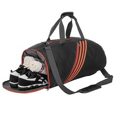 88ca731f58a6 Riavika Multi-function Travel Duffel Bag Lightweight Gym Sport Bag with  shoe compartment Review Large