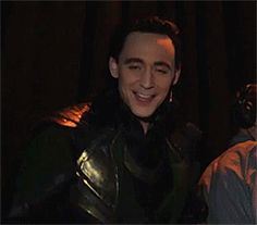 Tom after his Loki performance at Comic Con 2013