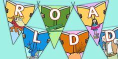Roald Dahl Display Bunting - display bunting, roald dahl, roald