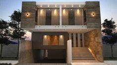 Fachada principal / Oriente: Casas de estilo moderno por Nova Arquitectura