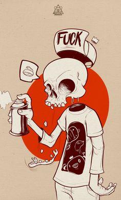 Illustration – The skull on Behance – … – Graffiti World Art And Illustration, Creative Illustration, Arte Do Hip Hop, Hip Hop Art, Comic Kunst, Comic Art, Art Pop, Famous Graffiti Artists, Famous Artists