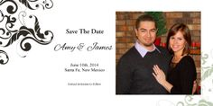 """Save the date 4""""x8"""" photo cards only .50 ea. Envelopes included."""