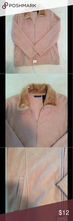 🆕 NWT Spring jacket With faux fur collar- small New never been worn, with tags, Tan jacket with faux fur collar. Zipper closure. Front side pockets. Size:  small.  Brand:  Nick & Sarah Sport Materials:  100% Polyester.    Measurements:  Length:  24 1/2 inches  Bust:  20 1/2 inches side to side  Waist:  20 inches side to side  Sleeves:  23 inches in length   Listing:  320. Box 10 Nick & Sarah Sport Jackets & Coats