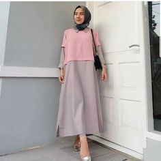 Abaya Fashion, Muslim Fashion, Diy Fashion, Fashion Dresses, Womens Fashion, Muslim Dress, Hijab Dress, Hijab Outfit, Clothes 2019