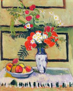 """Flowers and Fruit,"" 1909, Henri Matisse."