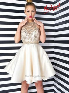 c80ac1a98e2a Dazzling Sequin Fit and Flare Homecoming Dress by Mac Duggal