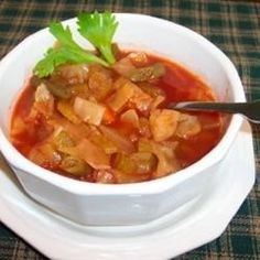 "Cabbage Fat-Burning Soup | ""Made a great hearty soup, especially on cold nights."""