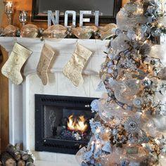 Winter Wonderland Decor for traditional elegance this Christmas. #beverlys #holiday #winterwhite