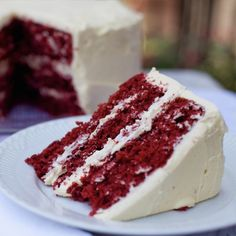 A lovely recipe for a red velvet three layer cake. This is a perfect cake for valentines day or any special occasion.. Red Velvet Three Layer Cake Recipe from Grandmothers Kitchen.