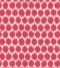 Home Decor Print Fabric - Waverly Seeing Spots Jazzberry