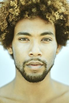 Natural Guys Rock...not sure if it's the hair that got me with this pic though lol