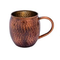 Alchemade Antique Hammered Barrel Shape Copper Mug - 16 oz. (Antique), Gold