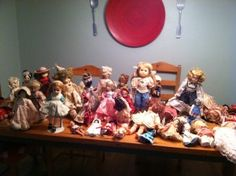 Do you want to laugh at a creepy collection of old dolls?  Of course you do.  Here you go!