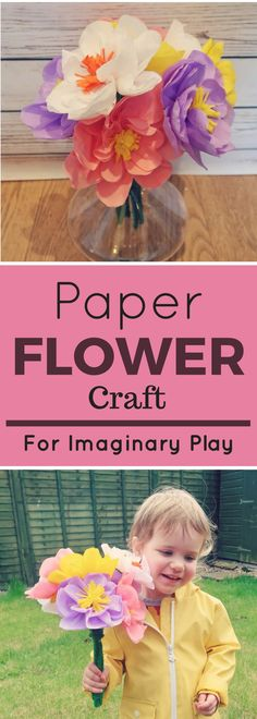 Paper Flowers Craft for Imaginary Play