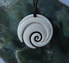 Maori Koru  swirling oceans design by JackieTump on Etsy
