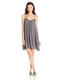 Volcom Juniors Escape Artist Cami Dress Dark Navy Small ** To view further for this item, visit the image link.