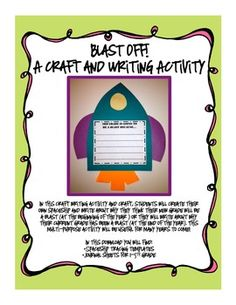 In this craft writing activity and craft, students will create their own spaceship and write about why they think their new grade will be a blast (. Teaching Boys, Teaching 5th Grade, Teaching Language Arts, Creative Teaching, Teaching Ideas, Beginning Of The School Year, First Day Of School, Back To School, School Stuff