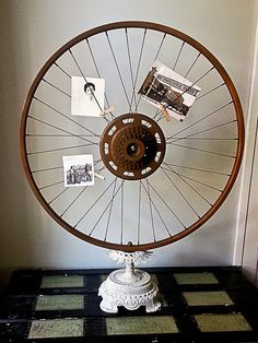 Reposhture Studio - love the wheel picture frame idea.