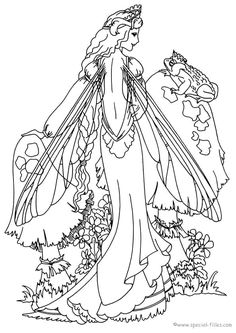 Fairies To Print And Color